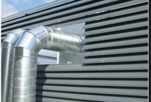 Louvres / Robust ventilation and versatile screening panel systems, also providing an aesthetically pleasing solution for rain defence.