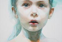 portraits / watercolour