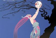 """Erte' / serigraphs and jewelry by the """"Father of Art Deco"""""""