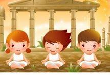yoga para niños en la escuela