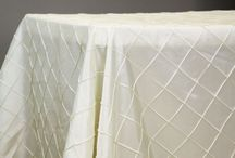 LINENS / We carry all kinds of linens for your reception, wedding or event.   If you don't see it...we can probably find it!!