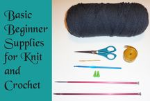 Needles and Hooks / Pins from the site Needles and Hooks - Learn to Knit and Crochet