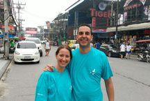 Francisco Javier y Laura en Patton, Phuket.