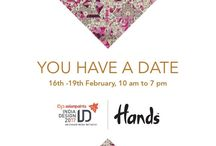 Hands at India Design ID - 2017 / New Delhi: Hands unveiled the latest collection of fine handmade carpets at the country's largest design event - India Design ID 2017. The four day long expo was held at NSIC Okhla, New Delhi from 16th to 19th February 2017. Parallel to the ID Exhibit, Hands was also part of the ID Satellite event, the offsite vertical of India Design ID 2017 exhibition, which transforms Delhi into a design hub.