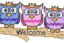 Plastic Canvas Owls