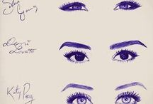 celebrity eye sketches