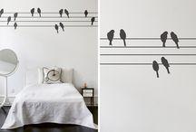 stylische Wandtattoos / Der Trend: Wandtattoos - schöne Deko für die Wand.