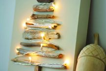Christmas driftwood decorations