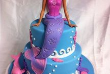 barbie mermaid cake