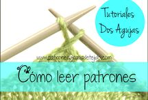 dos agujas / tricot
