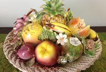 Porcelán Gyümölcsök