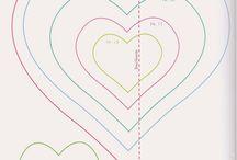 sablonok szív