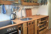 Paletten Küche