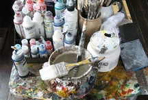 Favourite Art Materials / Favourite art materials, paints, crayons, inks, acrylic mediums from UK suppliers