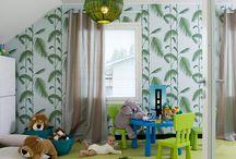 Lastenhuoneet / Kannustalojen leikkisät lastenhuoneet.