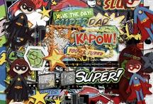 Superhero/Comic Book Digital Scrapbooking Kits / by Tiffany Tillman