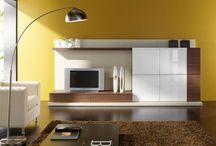 Interiores amarillos / Pintura y decoración de interiores en tonos amarillos