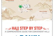 Hajj Step by Steps / Very important general steps for Hajj 2017 is to search for relevant and necessary 'Ilm' (knowledge) from reliable sources prior leaving for Hajj 2017. These steps will help you perform Hajj 2017 independently and with confidence.