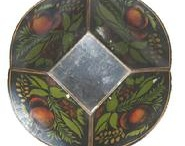 Tole / Antique hand-painted tin ware / by Merry Peasant