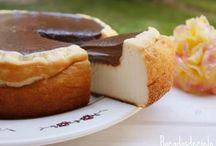 tartas de queso con chocolate