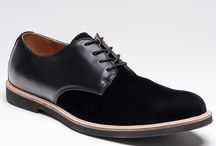 Hide Mark suede leather shoes
