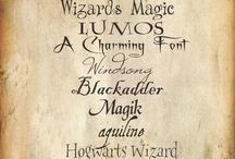 Wizarding fonts / Cute (free) fonts that will work perfect on your Harry Potter Party invitations, menu's and more!