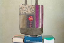 Dahlia bag A3 / Dahlia bag A3, unique piece, close with a zipper, decorated with piece of kimono vintage in silk, inside lined, size of bag : 38cm x 32cm
