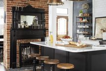 Industrial Kitchen Trends / Draws inspiration from warehouse or an urban loft style. Unfinished rawness exposed brick, ductwork, and wood elements.