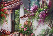paisajes bordados