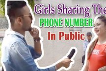 GIRLS Sharing Their PHONE NUMBER in Public