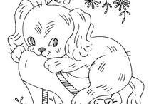 Värityskuvia koirat
