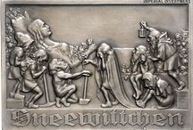 Austrian silver-plated bronze plaque things