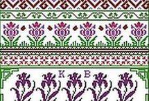Handarbete / mönster till korsstygn och liknande