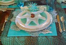 Beach Theme & Summer Tablescapes / Tablesetting