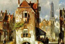 Charles Leickert - Romantic Dutch Landscape painter
