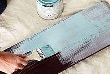 Técnica de pintura para envejecer muebles