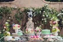 Dessert Tables / Make your cake table VIBRANT with a dessert table. Add those sweet treats in addition to a cake that your guest will LOVE!!!