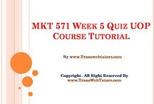 MKT 571 Week 5 Quiz