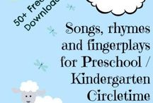 songs, rhymes, and fingerplays