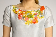 Embroidery with silk ribbon