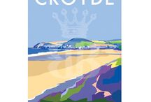 Vintage style travel posters and seaside prints created by Devon artist Becky Bettesworth. Reminiscent of the GWR railway poster art of the 1930s / South Devon artist creating vintage style travel posters and prints of seaside towns and the stunning South West coastline