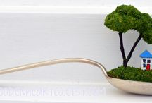 Diorama miniatures in spoons by Handmade Dorset / Beautiful and bespoke handcrafted, handmade home decor and special gifts www.handmadedorset.co.uk
