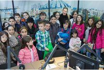 """""""Şcoala altfel"""" - aprilie 2015 la Radio România / foto: Radio România"""
