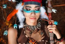 Indianerin Schminke
