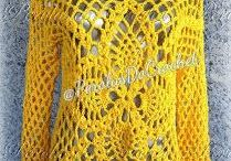 remera crochet amarilla