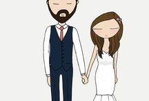 Wedding theme cartoon