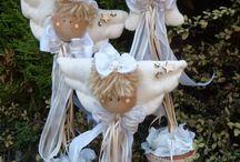 vánoční dekorace šité