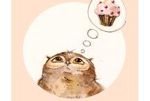 Owls- drawings