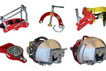 DCD Products / Products that DCD Design & Manufacturing manufacturers.  Assortment of Cable Installation Tools and HDD Directional Drilling Equipment utilized by many Ditch Witch and Vermeer rigs.