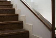 Escaleras de madera. Gubia